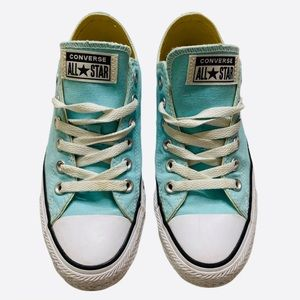 Teal Converse All Star Canvas Sneakers slip ons